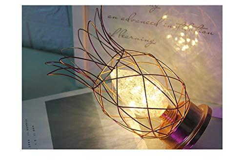 Velliceasay Einfache Ananas Modellierung Lampe Innendekoration Lampe Kreative Handgemachte Tischplatte Nachtlicht, Gold Romantische Heimtextilien Licht Geschenk -