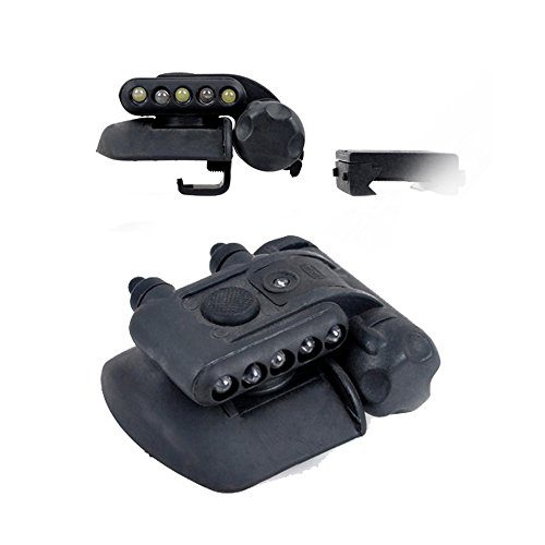 Element Airsoft LED Helmet Light Torch Set Gen II With Mount Red White (2 Light Gen Cap)