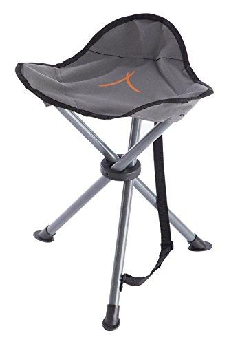 Grand Canyon Stahl 3-Bein-Hocker / Tripod, aus Stahl, faltbar, leicht und stabil, nur 760 g, für Camping, Outdoor, Konzerte, Angeln, Wandern, kleines Packmaß, grau, 308009