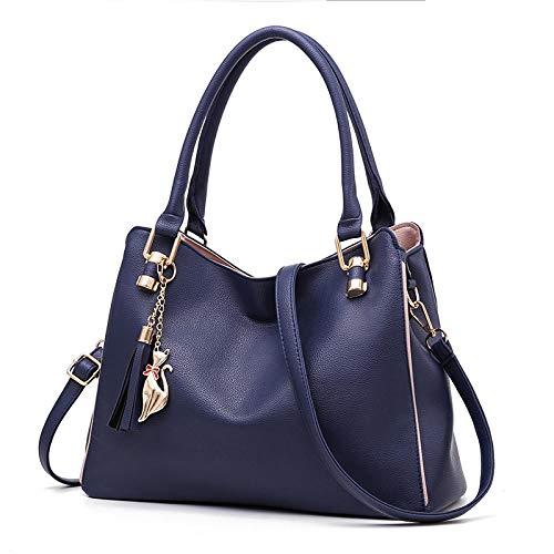 Fyyzg Umhängetasche lässige Mode weiblich tragbar elegant - dunkelblau