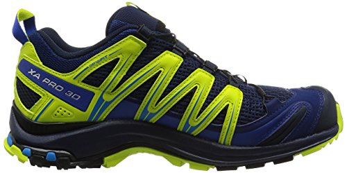 Salomon XA Pro 3D, Chaussures de randonnée homme Multicolore (Blue Depth/navy Blaze/lime Pun)