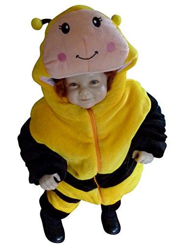 (Bienen-Kostüm, F98 Gr. 86-92, für Klein-Kinder, Babies, Bienen-Kostüme Biene Kinder-Kostüme Fasching Karneval, Kleinkinder-Karnevalskostüme, Kinder-Faschingskostüme, Geburtstags-Geschenk)