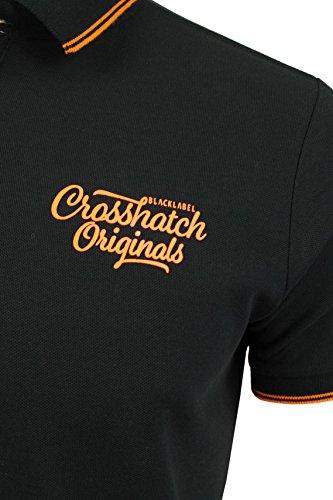 CrossHatch Pique-Poloshirt 'Morristown' Schwarz