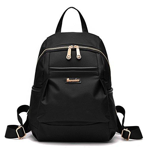 Imagen de nueva  del hombro de la muchacha bolsas escuela oxford tela impermeable simple versátil negro nicole&doris alternativa