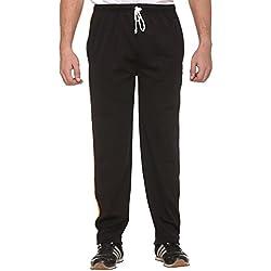 Vimal Cotton Blended Black Trackpants For Men