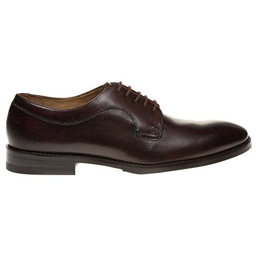 Aquascutum Round Toe Derby Homme Chaussures Marron Marron