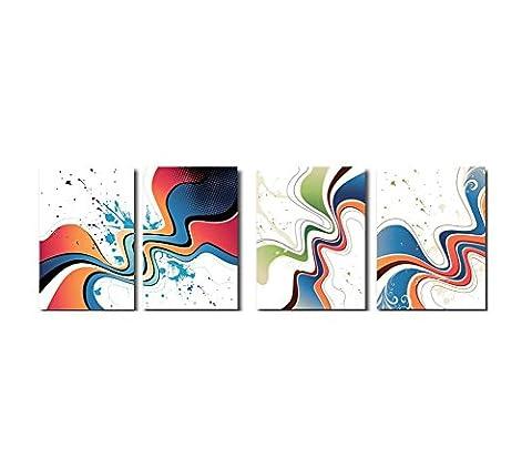 Handgemaltes Wand-Kunst-Dekor Zwei Tafel-Segeltuch-Ölgemälde für Hauptdekoration ,