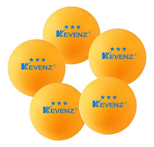 50pezzi kevenz 3stelle esercizio tavolo Tennis Ball durevole palle da ping pong (Arancione, Bianco), Orange, 40mm