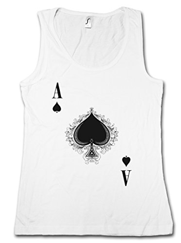 Urban Backwoods Ace of Spades III Damen Tank Top - Spade Ace Poker Card Casino Karte Royal Flush Pik As Größen S – XL (Ace Royal Farbe)