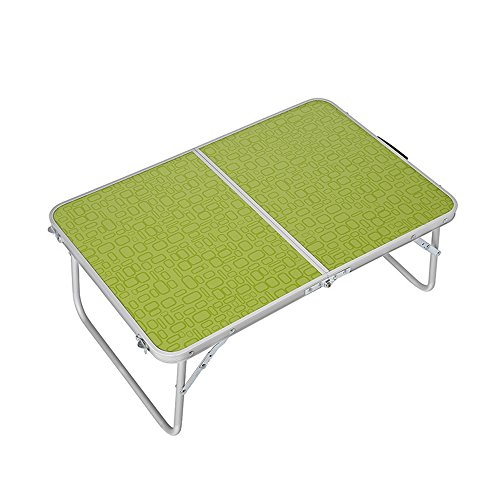 Rechteckige Picknick-tisch Grün (Klapptisch Tisch Outdoor-Mehrzweck-Camping Picknick Portable Klappcomputer Notebook Learn Tabelle (Farbe : Grün))