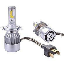 XCSOURCE® 2pcs 10000LM 55W LED llevó la linterna H4 del halógeno del bulbo de lámpara Construido-en el ventilador de enfriamiento 6000K blanco LD973