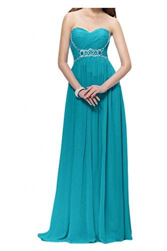 Toscana sposa donna moda a forma di cuore perla Chiffon stanotte vestiti per sposa giovane a lungo Party Ball Bete vestimento Turchese