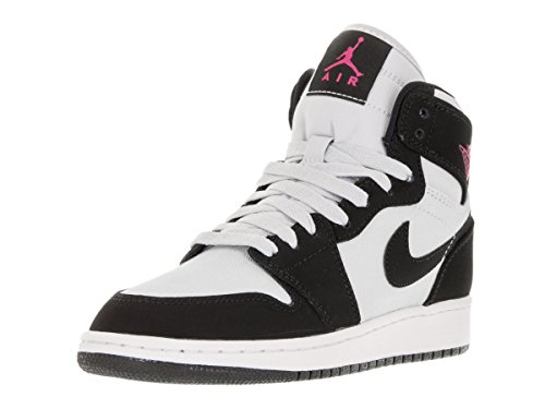 Nike Air Jordan 1 Retro High Gg, Chaussures de Sport-Basketball Fille Argent - Plateado (Plateado (Pr Platinum / Vvd Pnk-Blk-White))