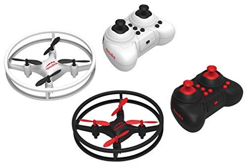 Speedlink Quadrocopter Drohnen Rennspiel - RACING DRONES Competition Set 2 Spieler RC (2,4 Ghz-Fernsteuerung - Gyroskop für Stabile Lage - Parcours-Set mit Landeplatz, Pylon und Zieltor) Schwarz-Weiß (Tech Und Go Mobile Power)