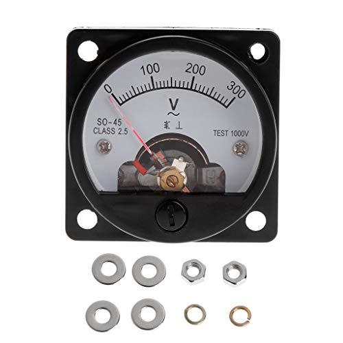 VvXx Voltmeter SO-45 AC 0-300 V rund Analog Dial Panel Meter Voltmeter Gauge Schwarz -