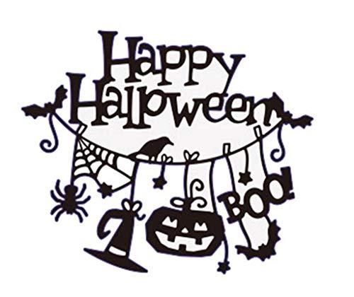 1 stücke Kürbis Hexe Metall Stanzformen Für Halloween Scrapbooking Stahl Handwerk Gestanzte Kreative Stempel Prägekarten Schablone (E)