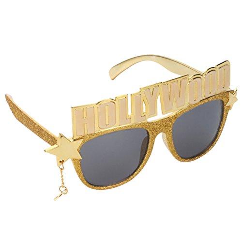 Amosfun Hollywood Party Brille Kostüm Cosplay Dekoration Neuheit Sonnenbrille Brillen Party Favors Foto Prop Halloween Kostüme (Halloween An Hollywood)