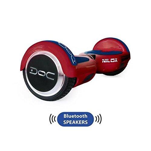 Nilox Plus UL 2272 Doc Hoverboard Bluetooth, Geschwindigheit 10 Km/h, Rot, 25.7 x 28 x 65.5 cm - 3