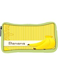 Snoogg Eco Friendly Canvas Bright Organic Banana Card In Vector Format Student Pen Pencil Case Coin Purse Pouch...