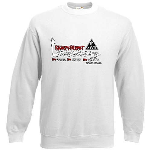 getshirts - Kampfkunst Lifestyle Shop - Sweatshirt - Kampfkunst Lifestyle - Logo 2 - weiss S