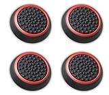 Canamite, gommini copri levette per joystick, per PS4,PS3,Xbox One, Xbox One S e Xbox 360, confezione da 4pezzi, Red