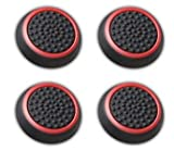 Canamite-Daumengriffe, für PS4 / PS3 / Xbox One / Xbox One S / Xbox 360 / 4 Stück, rot