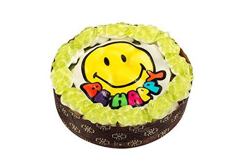 Be Happy Törtchen, kleine Torte aus Fruchtgummi, Smiley Torte mit Fröschen und Marsh-Mellows, 210g,