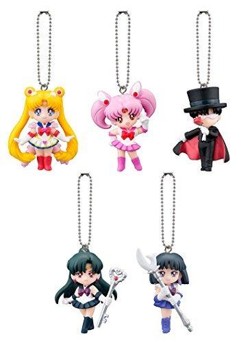 Sailor Moon Figure Keychain Part-3~20th Annivesary PVC Mascot Swing Set of 5