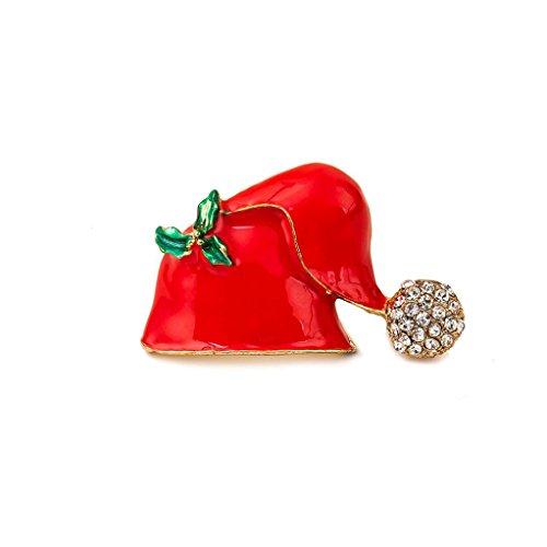Transer® New Fashion Christmas Broschen für Hüte Hat Brosche (Hüte Up Light Santa)