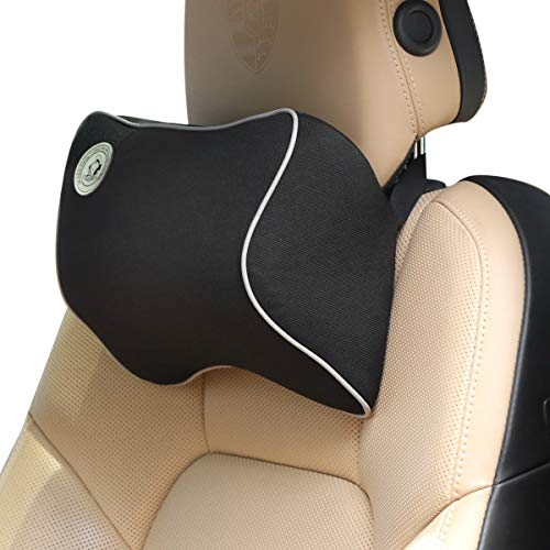 PegasusPremium Car Headrest Pillow Memory Foam Car Neck Support Pillow Ergonomically for Adjust Sitting Position Relief Pain of Back/Spine/Coccyx in Travel/Office/Home/Car