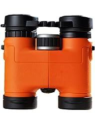 Leeww Telescopio binoculares 8x32 Prismáticos de Alta Definición Baja Visión nocturna de luz compacto Mini,Naranja,Blue Film