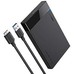 UGREEN USB 3.0 Boîtier Externe pour 2.5 Pouces Disque Dur SATA III II I HDD SSD 7mm 9.5mm 6To Max 5Gbps UASP Compatible Câble USB 3.0 Inclus
