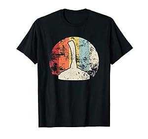 Retro Eisstock T-Shirt Stockschießen Eisstockschießen Shirt