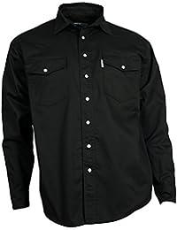 WESTERN-SPEICHER Freizeit Jeans Hemd Herren Baumwolle schwarz Druckknöpfe  S-4XL 4528ac91e5