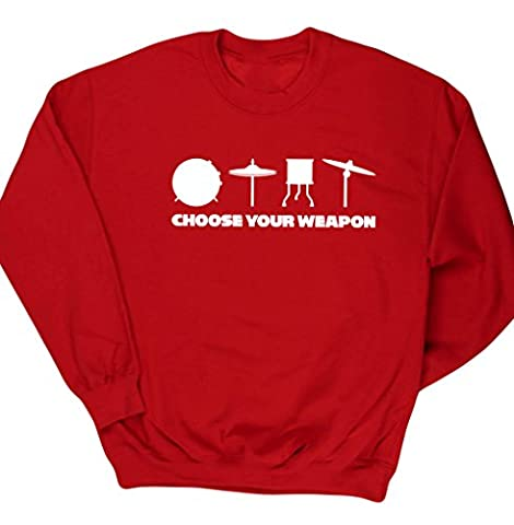 HippoWarehouse Choose Your Weapon (Drums) unisex jumper sweatshirt pullover
