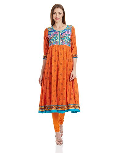 Rangriti Women's Straight Kurta (INDIAN P4224_Multicolor_42)