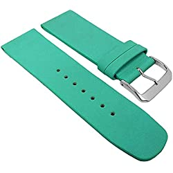 Graf Manufaktur Spree Turquoise & Replacement Watch Strap Leather Band 27081S, Bridge Width: 24 mm