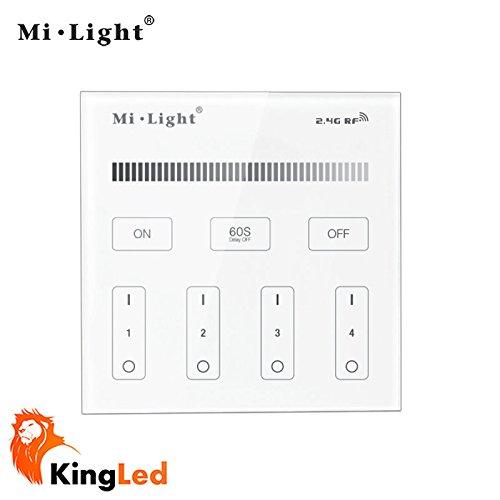 kingled-controller-da-parete-touch-multizona-dimmer-per-strisce-e-faretti-monocolore-4-zone-di-contr