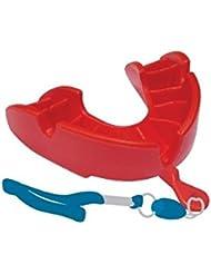 Sportland–American–Protege dientes fútbol americano OproShield bronce con Strap rojo