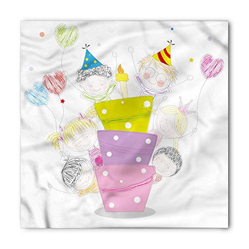 RAINNY Birthday Party Bandana, Sketch Children Party, Unisex Head and Neck - Working Girl Kostüm