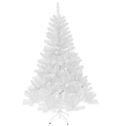 Preisvergleich Produktbild MCTECH 180cm 245 Spitzen Festive Künstlicher Weihnachtsbaum Tannenbaum Christbaum mit Ständer Andere Größe- Farbe: Weiß Dekobaum (180cm)