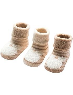 DEBAIJIA Bio-Baumwolle Babysocken für 0-36 Monate Jungen Mädchen Neugeborene Kleinkind Dicke Warm Socken Set 3er...