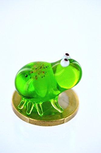 Rana verde cristal Mini–vidrio figura Rana Verde–Miniatura