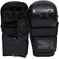 3X Elección Profesional Maya Hide Leather Boxing Krav Maga MMA Grappling Gloves Martial Arts Sparring Punching Bag Cage Combat Training Fighting Mitts (Multi Colores/TAMAÑOS)