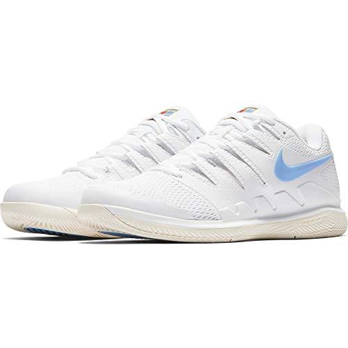 Nike Air Zoom Vapor X CPT, Scarpe da Fitness Uomo, Multicolore (White/University Blue/Light Cream 100), 42 EU