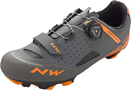 Northwave Origin Plus MTB Fahrrad Schuhe grau/orange 2020: Größe: 44