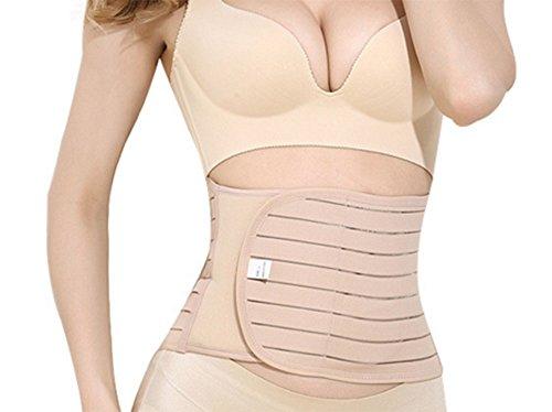 Postpartum-Unterstützung - elastische atmungsaktive postnatale Erholung Unterstützung Frauen Body Shaper Taille Trainer Gürtel (Post Csection Bauchband)