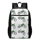 Homebe Sac à Dos,Cartable,Sac d'école Boys Green Dirt Bike Colorful Patterned...