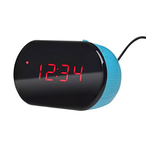 Excelvan LK-T091- Radio Despertador Reloj Escritorio Digital (Alarma, Temporizador, Pantalla LED, 24 Horas, 10CH FM, Sintonización PLL)