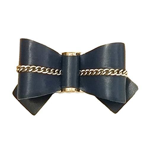 La Loria Damen 2 Schuhclips Fashionable Loop Bau Silber, Schmuck-Accessoires für Schuhe -